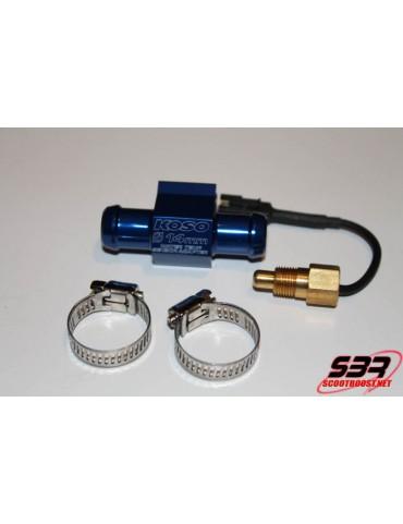 Adaptateur de durite 14mm + sonde de température KOSO