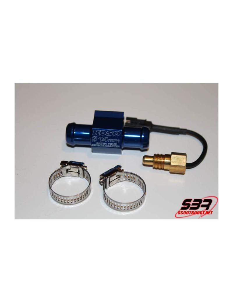Adaptateur de durite 16mm + sonde de température KOSO