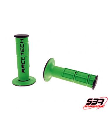 Revêtement poignée RACETECH Dual Grip Vert / Noir Kawazaki