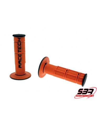 Revêtement poignée RACETECH Dual Grip Orange / Noir KTM