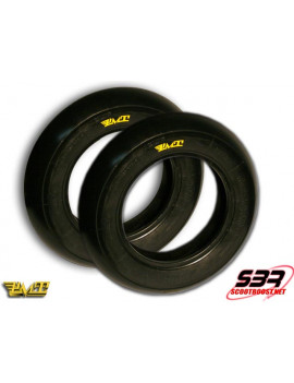 Set de pneus PMT 100/90/12 - 120/80/12 slick