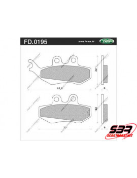 Plaquettes de frein NEWFREN avant X Power / TZR