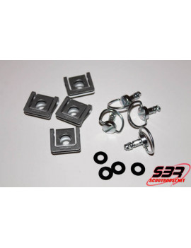 Set de 4 attaches rapide pour carénage moto
