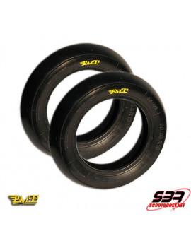 Set de pneus PMT R-Slick 90/90/10 - 100/85/10 Super Soft