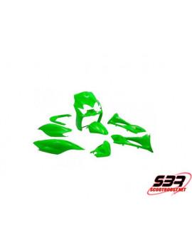 "Kit carénages STR8 ""Vert"" 9 pièces MBK Mach G / Yamaha Jog"