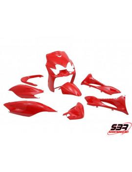 """Kit carénages STR8 """"Rouge"""" 9 pièces MBK Mach G / Yamaha Jog"""