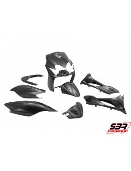 """Kit carénages STR8 """"Carbone"""" 9 pièces MBK Mach G / Yamaha Jog"""