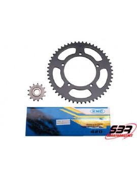 Kit pignons chaine KMC MBK X-Limit SM / Yamaha DTR pas 420 12x52