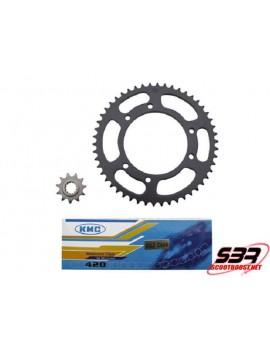 Kit pignons chaine KMC MBK X-Limit / Yamaha DTR 2003 à 2006 pas 420 11x52