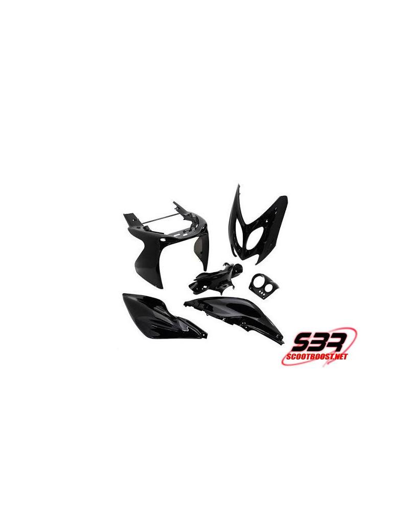 Kit carénages Noir 6 pièces MBK Nitro / Yamaha Aerox 1997 à 2012