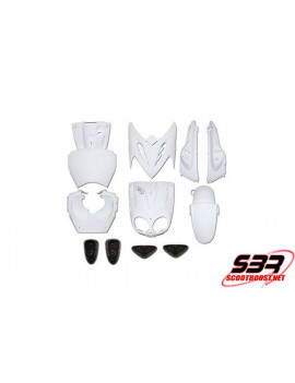 Kit carénages Blanc 11 pièces MBK Stunt / Yamaha Slider
