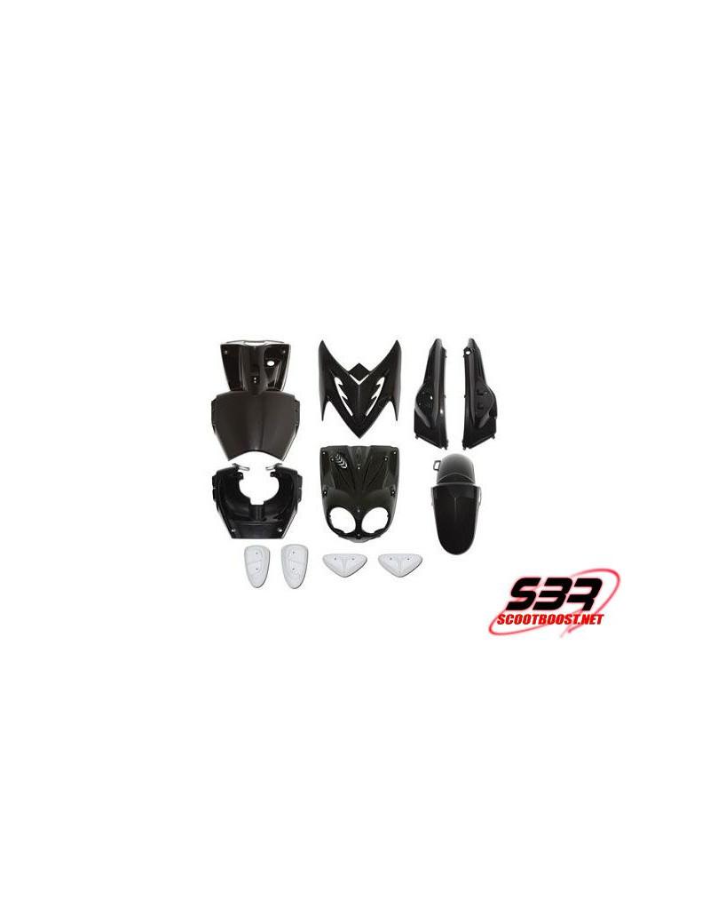 Kit carenages MBK Stunt Blanc - 11 pieces Pads Slider