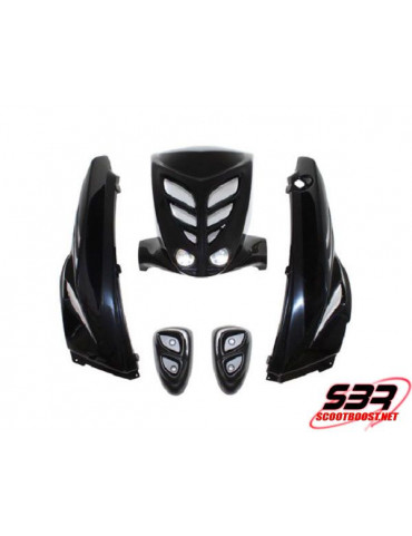 Kit carrosserie BCD Noir MBK Stunt / Yamaha Slider