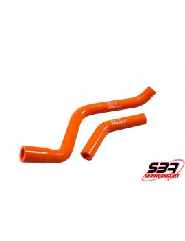 Kit durites radiateur Stage6 orange Derbi Euro 3