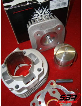Cylindre Barikit racing alu 70cc MBK Ovetto