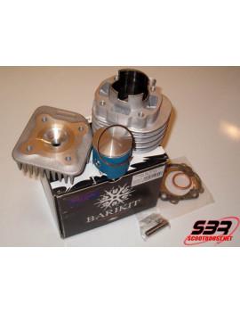 Cylindre Barikit racing alu 70cc Blue Zafir MBK Ovetto