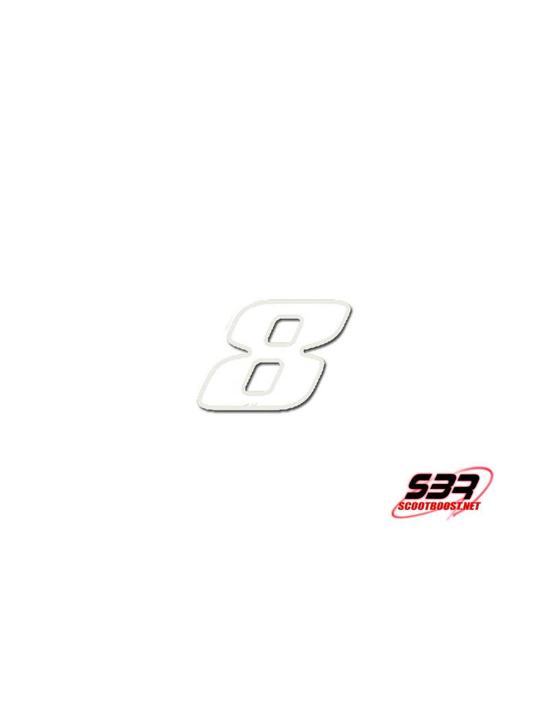 Autocollant - stickers Blanc N° 8