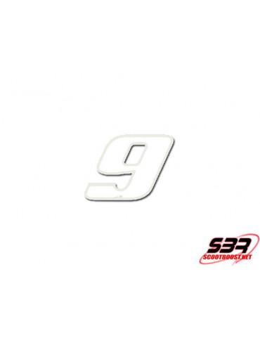 Autocollant - stickers Blanc N° 9