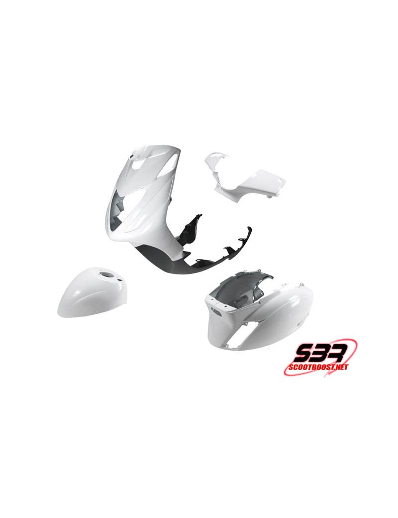 Kit de carénages STR8 blanc pour Piaggio Zip 2000