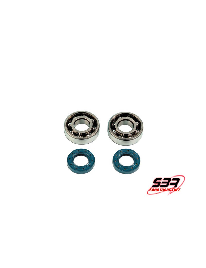 Kit roulements vilebrequin SKF 6204 (D20mm) + joints spy Derbi
