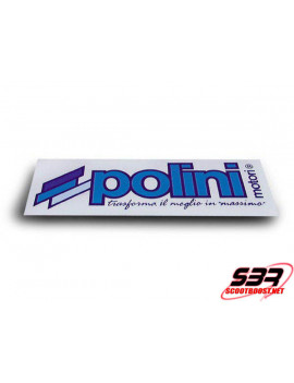 Autocollant Polini bleu 16x6 cm