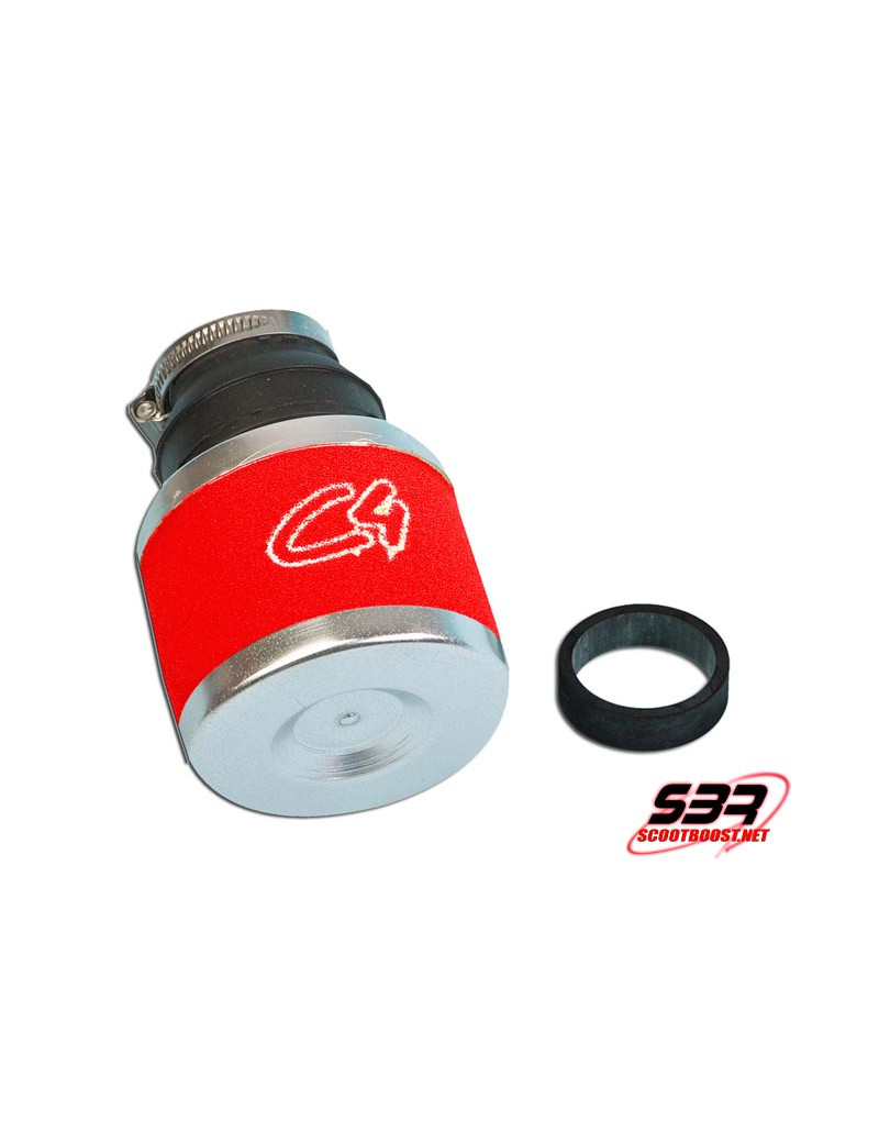 Filtre Air C4 Rouge Carbu 19-24mm