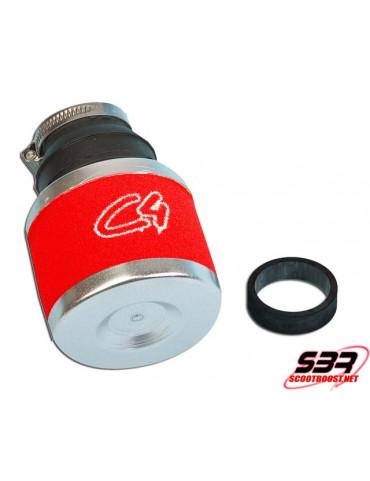 Filtre Air C4 Rouge Carbu Ø 19-24mm